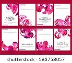 february 4  world cancer day... | Shutterstock .eps vector #563758057