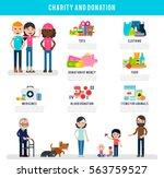 human volunteers flat... | Shutterstock .eps vector #563759527