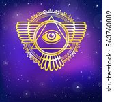 esoteric winged sign of a...   Shutterstock .eps vector #563760889