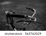 old bicycle closeup background. | Shutterstock . vector #563762029