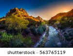 zion national park fall colors... | Shutterstock . vector #563765119