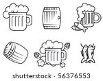 set of beer and alcohol symbols ... | Shutterstock . vector #56376553
