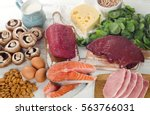 foods highest in natural... | Shutterstock . vector #563766031
