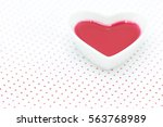 elixir of love  red philter in... | Shutterstock . vector #563768989