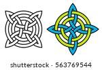 celtic quaternary knot... | Shutterstock . vector #563769544