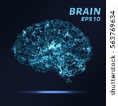 the brain is composed of points ... | Shutterstock .eps vector #563769634
