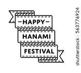 japan hanami festival emblem... | Shutterstock .eps vector #563776924