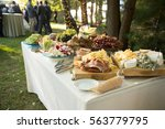 antipasto and vegetables at... | Shutterstock . vector #563779795