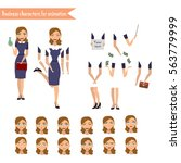 pupil character for your scenes....   Shutterstock .eps vector #563779999