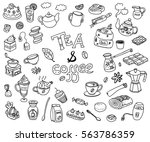 big vector collection of doodle ... | Shutterstock .eps vector #563786359