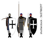 medieval knights  weapons ...   Shutterstock .eps vector #563788297