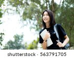 a female college student...   Shutterstock . vector #563791705
