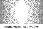 gray and white pixel background.... | Shutterstock .eps vector #563793295