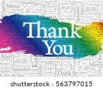 thank you word cloud background ... | Shutterstock .eps vector #563797015