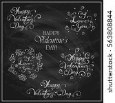 letterings happy valentines day ... | Shutterstock . vector #563808844