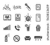 karaoke icon | Shutterstock .eps vector #563813659