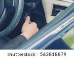 businessman starting the... | Shutterstock . vector #563818879