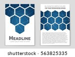 abstract vector layout... | Shutterstock .eps vector #563825335