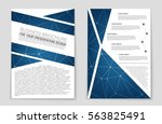 abstract vector layout... | Shutterstock .eps vector #563825491