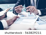 group of business people busy... | Shutterstock . vector #563829211
