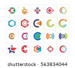 variation mixed abstract... | Shutterstock .eps vector #563834044
