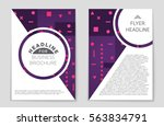 abstract vector layout... | Shutterstock .eps vector #563834791