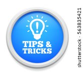 tips and triks button | Shutterstock .eps vector #563835421