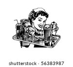 retro diner waitress   retro... | Shutterstock .eps vector #56383987