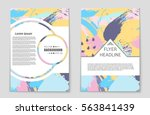 abstract vector layout... | Shutterstock .eps vector #563841439