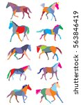 illustration with colorful... | Shutterstock .eps vector #563846419