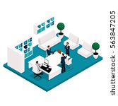 trend isometric people  concept ... | Shutterstock .eps vector #563847205