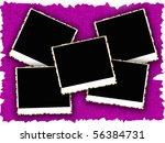 blank photo frames on old...   Shutterstock . vector #56384731