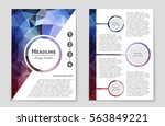 abstract vector layout... | Shutterstock .eps vector #563849221