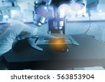 laboratory test with soft focus | Shutterstock . vector #563853904