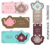 teapot tags | Shutterstock .eps vector #56386033