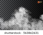 fog or smoke isolated... | Shutterstock .eps vector #563862631