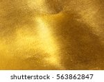 shiny yellow leaf gold foil... | Shutterstock . vector #563862847