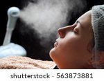 beauty treatment of face skin... | Shutterstock . vector #563873881