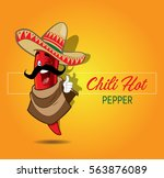 mexican hot chili pepper | Shutterstock .eps vector #563876089