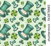 st patrick's day illustration... | Shutterstock . vector #563878885
