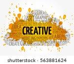 creative word cloud  creative... | Shutterstock .eps vector #563881624