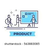 vector business illustration of ... | Shutterstock .eps vector #563883085