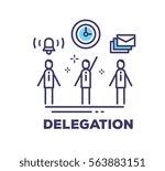 vector business illustration of ... | Shutterstock .eps vector #563883151