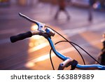 bicycle placed on one of the... | Shutterstock . vector #563889889
