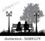vector  silhouette man and... | Shutterstock .eps vector #563891179