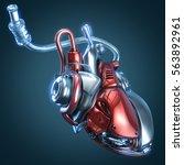 Concept Robot Heart 3d...