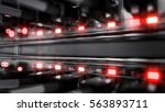 lights and connections on... | Shutterstock . vector #563893711