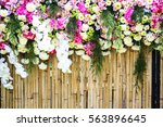 Flower On Bamboo Background