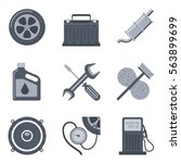 set of auto icons isolated on... | Shutterstock .eps vector #563899699