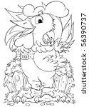 rooster | Shutterstock . vector #56390737